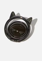 Typo - Metal phone ring - black cat
