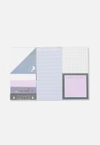 Typo - Novelty sticky note pack - purple moon