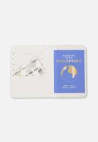 Typo - Rfid passport holder - terrazzo
