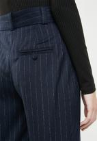 MANGO - Printed crop trouser - navy