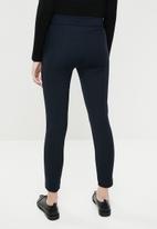 MANGO - Crop slim fit trouser - navy