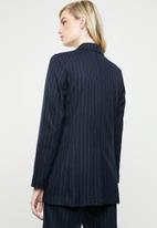 MANGO - Striped suit blazer - navy