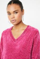 Jacqueline de Yong - Long sleeve pullover - pink