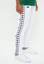 KAPPA - Banda Astoria snap pants - white