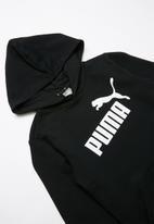 PUMA - ESS logo hoodie  - black