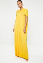 ERRE - Twist front maxi dress - yellow