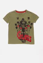 GUESS - Short sleeve bike tee - green
