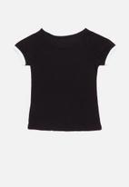 GUESS - Short sleeve tri tee - black
