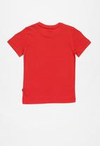 PUMA - Short sleeve logo tee - red