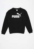 PUMA - ESS logo crew sweat fl b - black