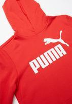PUMA - Ess logo hoodie  - red