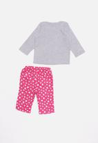 POP CANDY - Flannel hearts pyjamas - pink