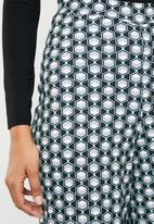 Missguided - Cube geo print wide leg trouser - green