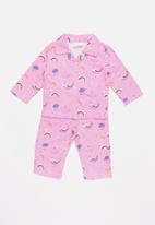 POP CANDY - Full flannel pyjamas - purple
