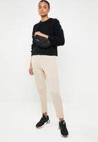 Missguided - High waisted tapered trackpants - beige