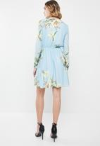 ONLY - Carla wrap dress - blue