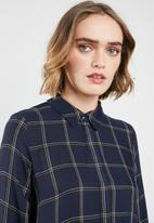 ONLY - Canberra check shirt - navy