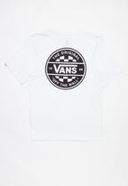 Vans - Checker co. short sleeve boys - white & black