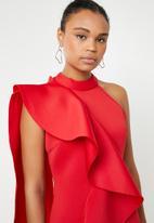 STYLE REPUBLIC - Ruffle detail mini dress - red