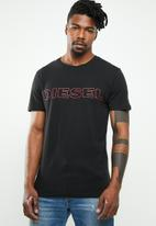 Diesel  - Umlt-jake short sleeve tee - black