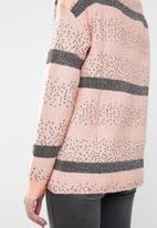 Vero Moda - Richa ginger boatneck knit - pink