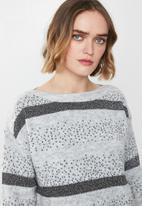Vero Moda - Richa ginger boatneck knit - grey