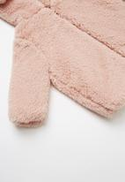 Cotton On - Teddy hooded jacket - pink
