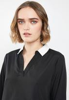 Vero Moda - Long sleeve midi top - black
