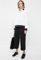 Vero Moda - Long sleeve midi top - white