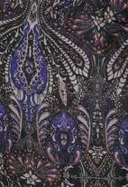 Vero Moda - Olana chiffon long sleeve top - black & purple