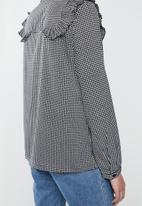 Vero Moda - HHallie long sleeve shirt - black & white