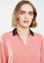 Vero Moda - Long sleeve midi top - peach