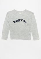 Roxy - White sweater - grey
