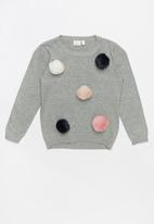 name it - Spot long sleeve knit - grey