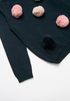 name it - Lisa spot long sleeve knit sweat - navy