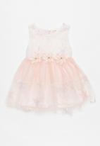 POP CANDY - Printed flower dress - pink