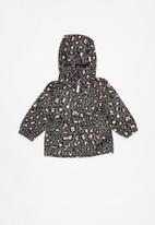 name it - Mello leopard print parka jacket - multi