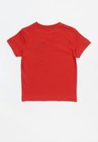 adidas Performance - Little boys classic lin tee - red