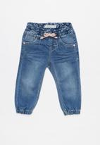 name it - Tora draw cord jegging pants - blue