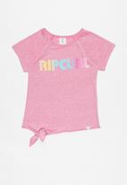 Rip Curl - Rainbow raglan - pink