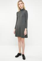 Superbalist - Poloneck trapeze dress - charcoal