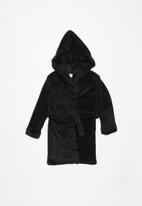 POP CANDY - Plain fleece gown - black
