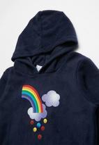 POP CANDY - Rainbow printed fleece hoodie - navy