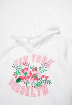 POP CANDY - New York Brooklyn printed hoodie - white