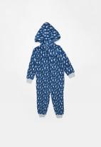 POP CANDY - Bolt printed onesie - blue & grey