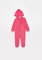 POP CANDY - White star printed onesie - pink