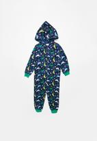 POP CANDY - Dino star printed onesie - navy - multi