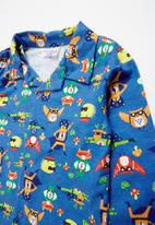 POP CANDY - Super hero full flannel pyjama top & bottom - multi