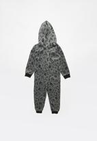POP CANDY - Skull printed onesie - grey