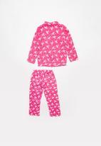 POP CANDY - Full flannel unicorn pyjama top & bottom - pink
